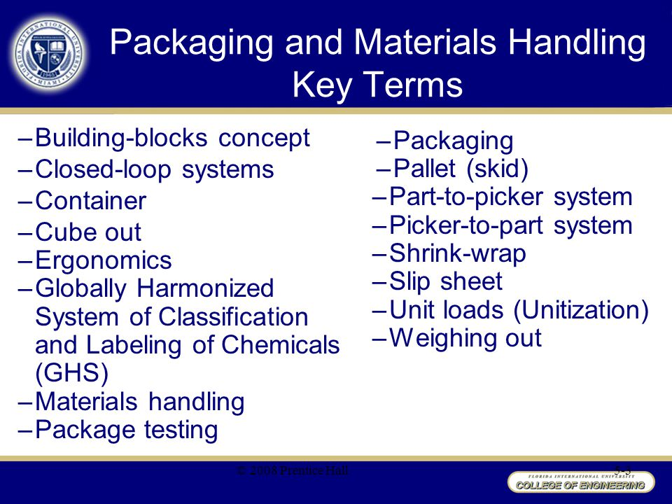 Packaging and Materials Handling Key Terms