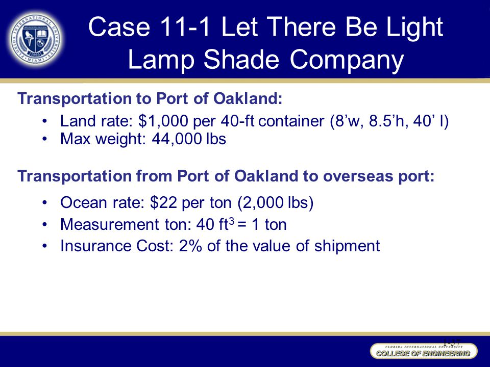 Case 11-1 Let There Be Light Lamp Shade Company