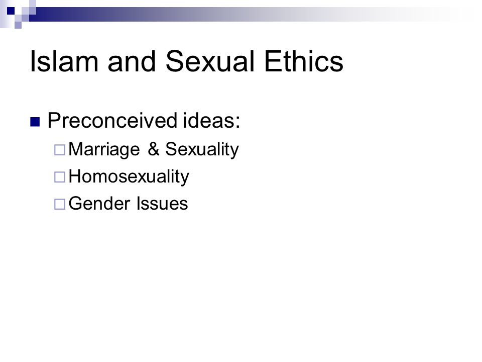 Islam and Sexual Ethics
