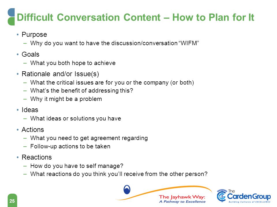 Difficult Conversation Content – How to Plan for It