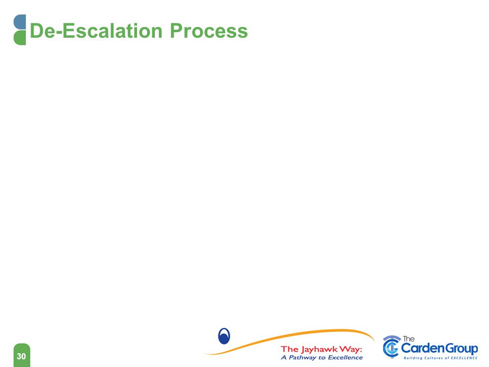 De-Escalation Process