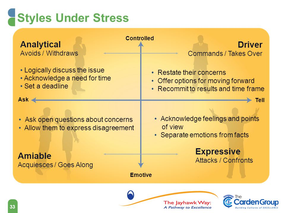 Styles Under Stress Analytical Driver Expressive Amiable