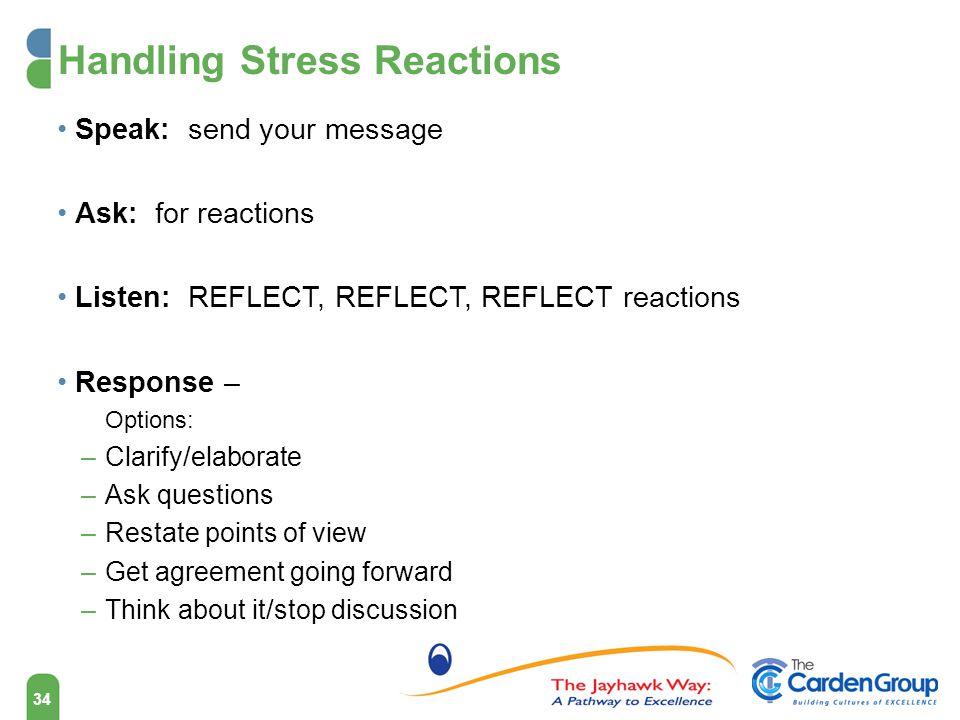 Handling Stress Reactions