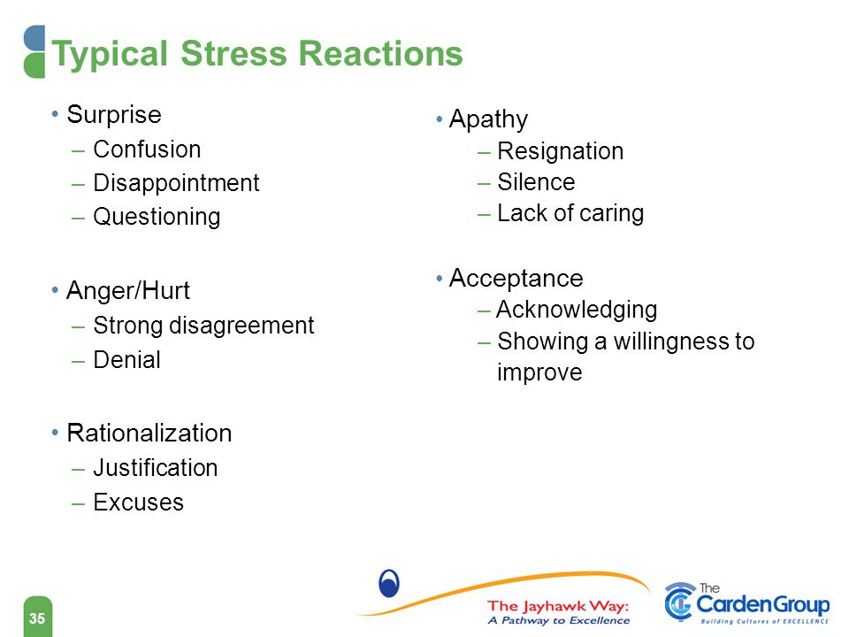Typical Stress Reactions