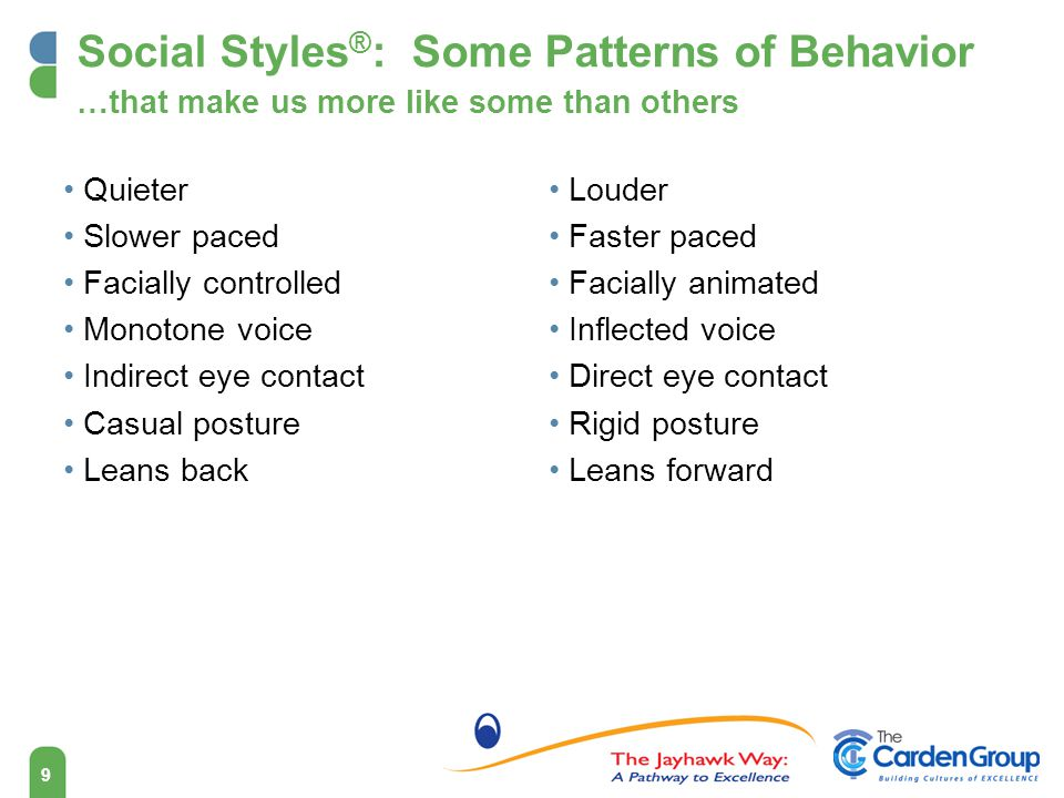Social Styles®: Some Patterns of Behavior …that make us more like some than others