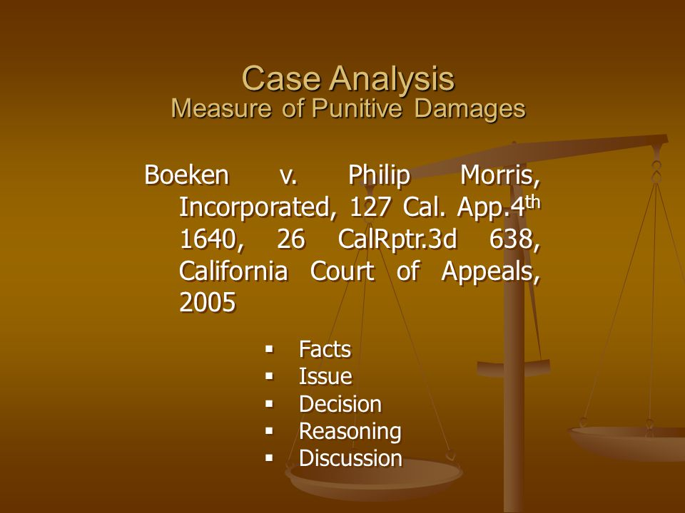 Case Analysis Measure of Punitive Damages