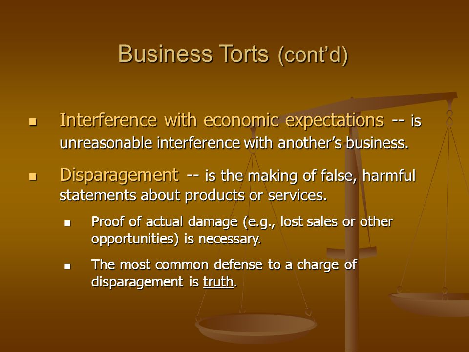 Business Torts (cont'd)