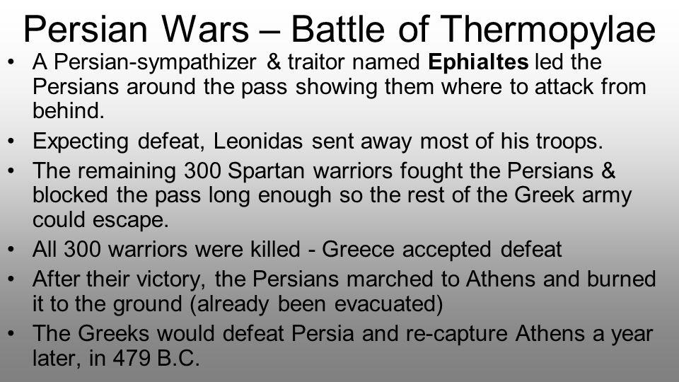 Persian Wars – Battle of Thermopylae