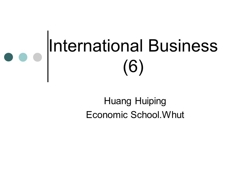International Business (6)