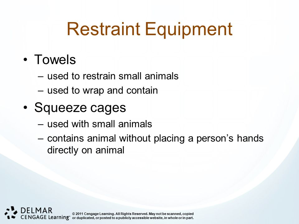 Restraint Equipment Towels Squeeze cages