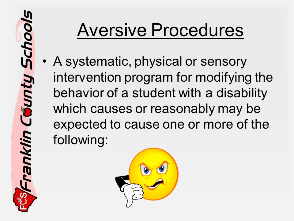 Aversive Procedures