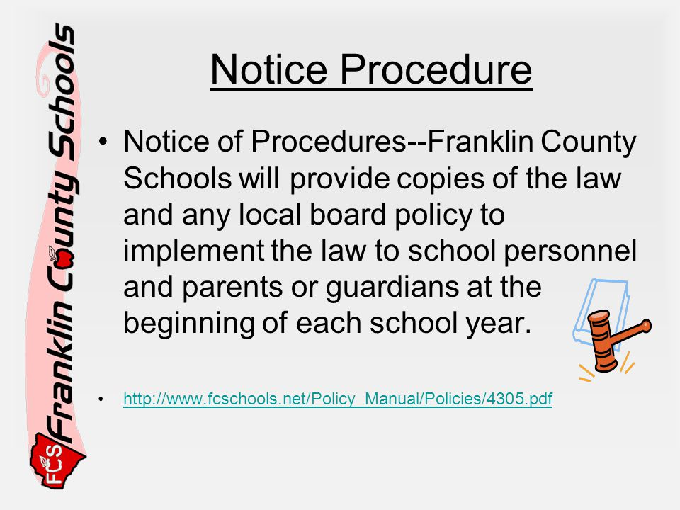 Notice Procedure