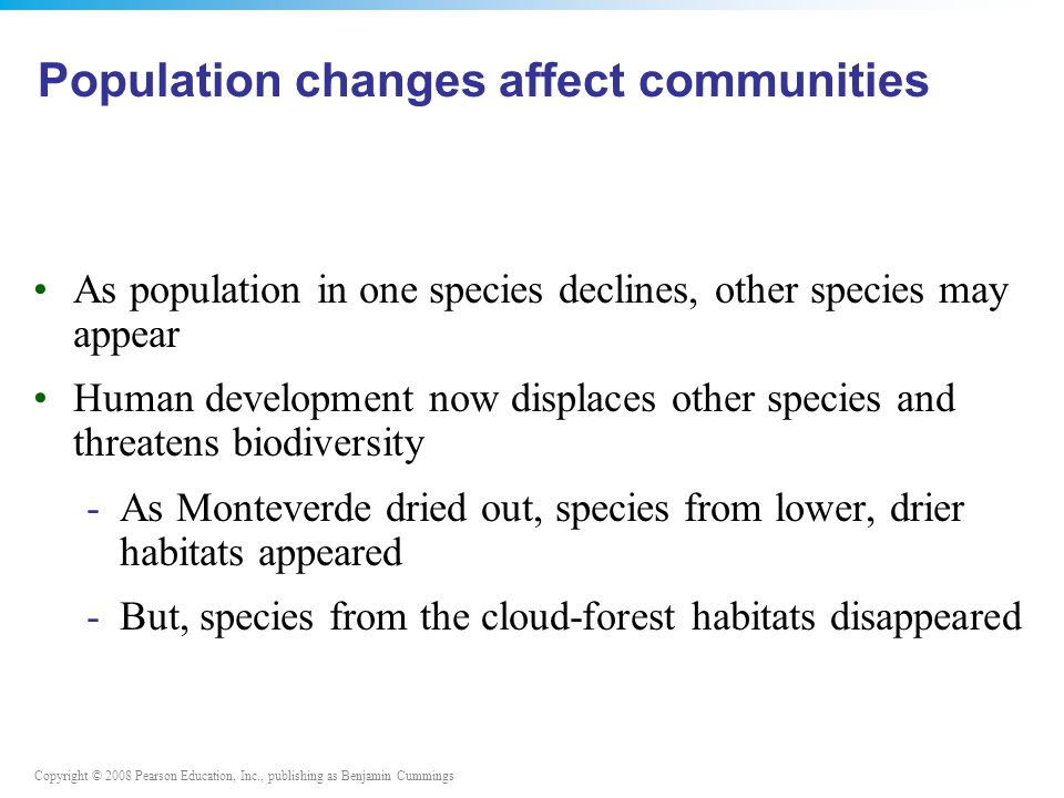 Population changes affect communities