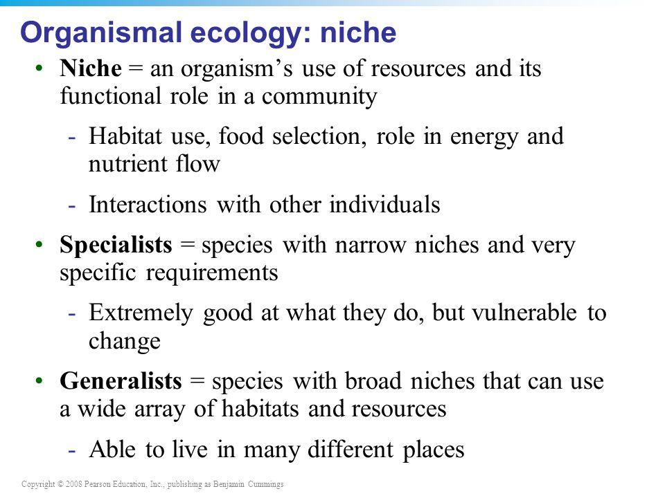 Organismal ecology: niche