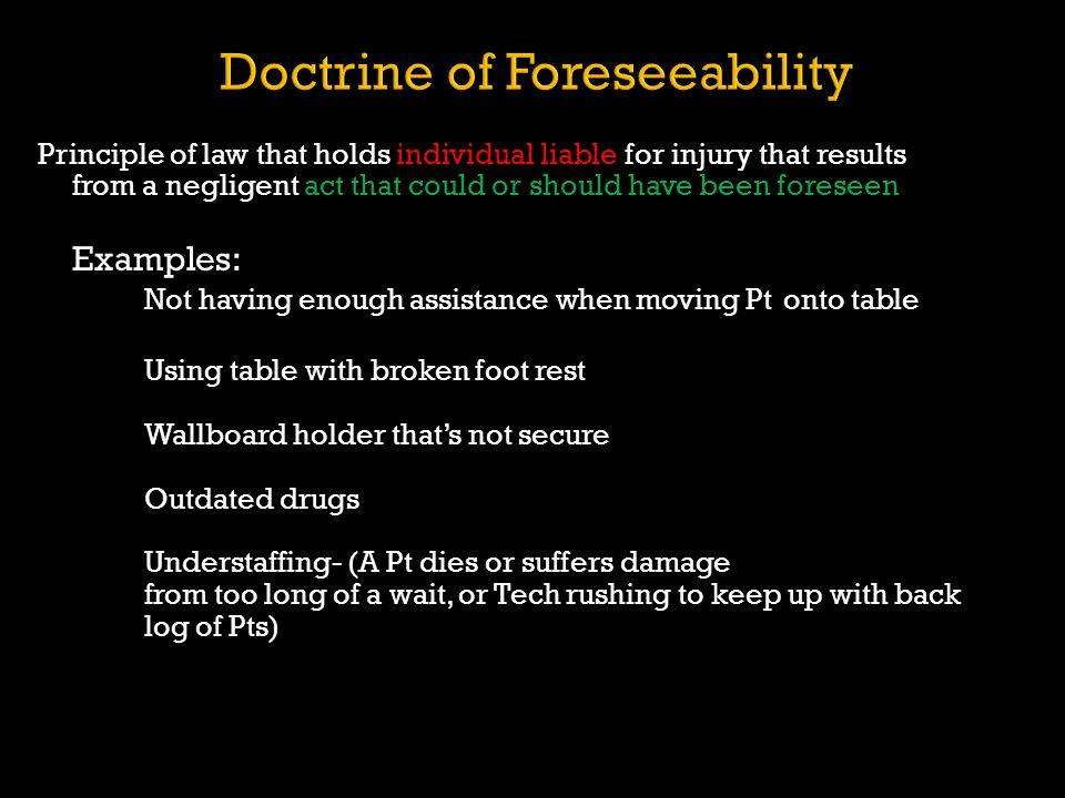 Doctrine of Foreseeability