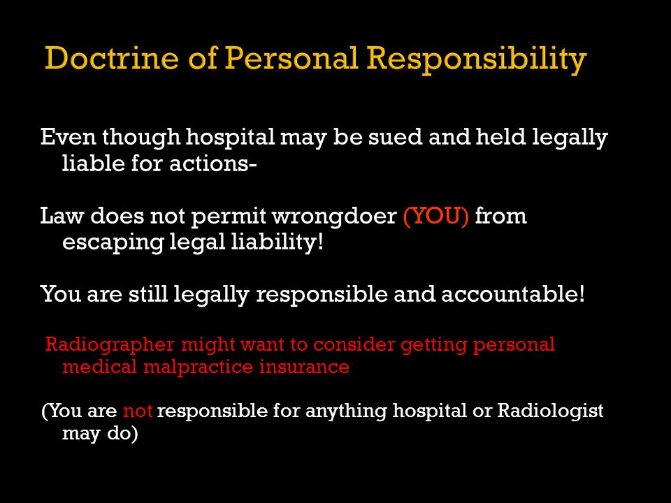 Doctrine of Personal Responsibility