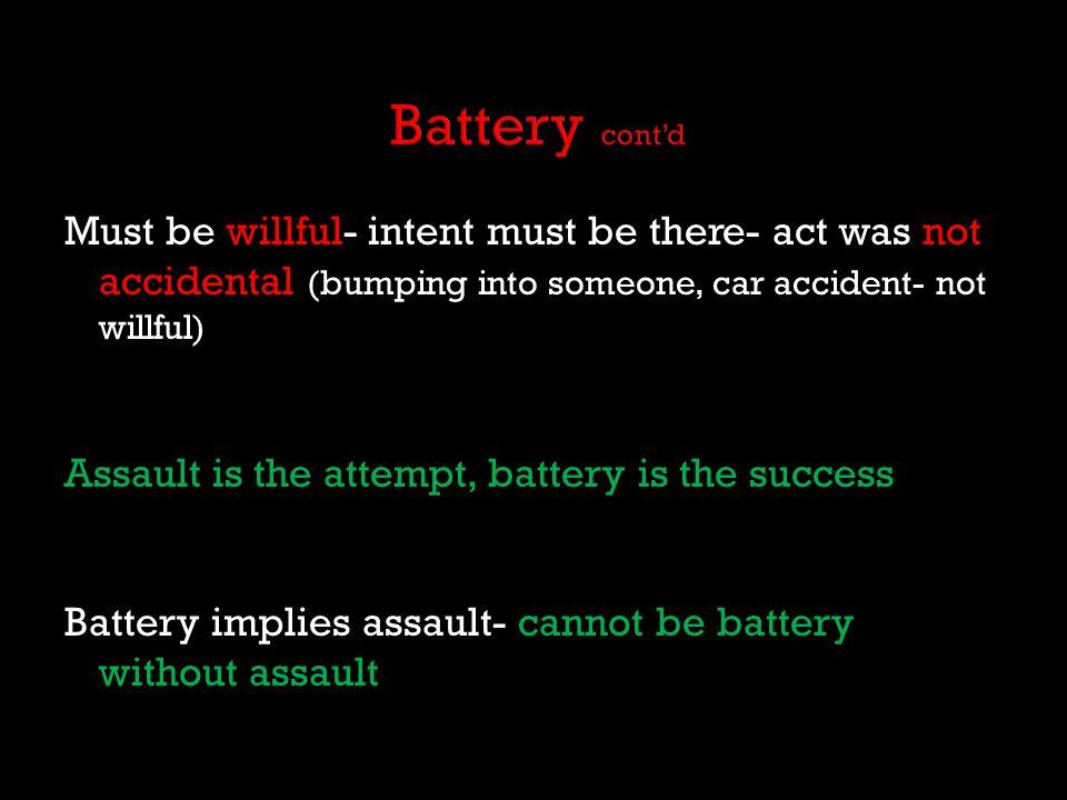 Battery cont'd