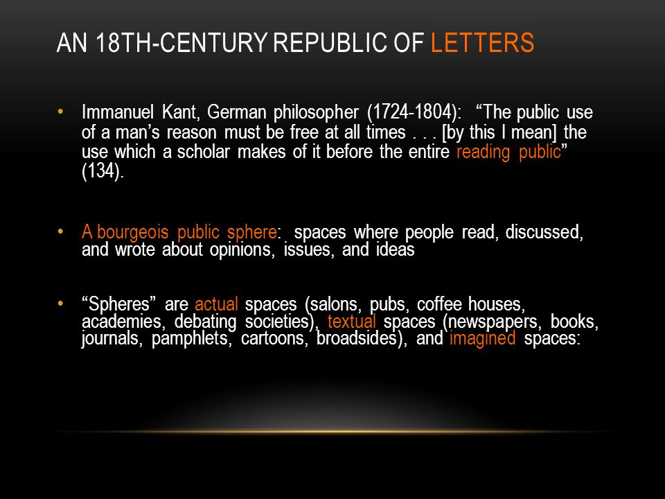 An 18th-century Republic of Letters