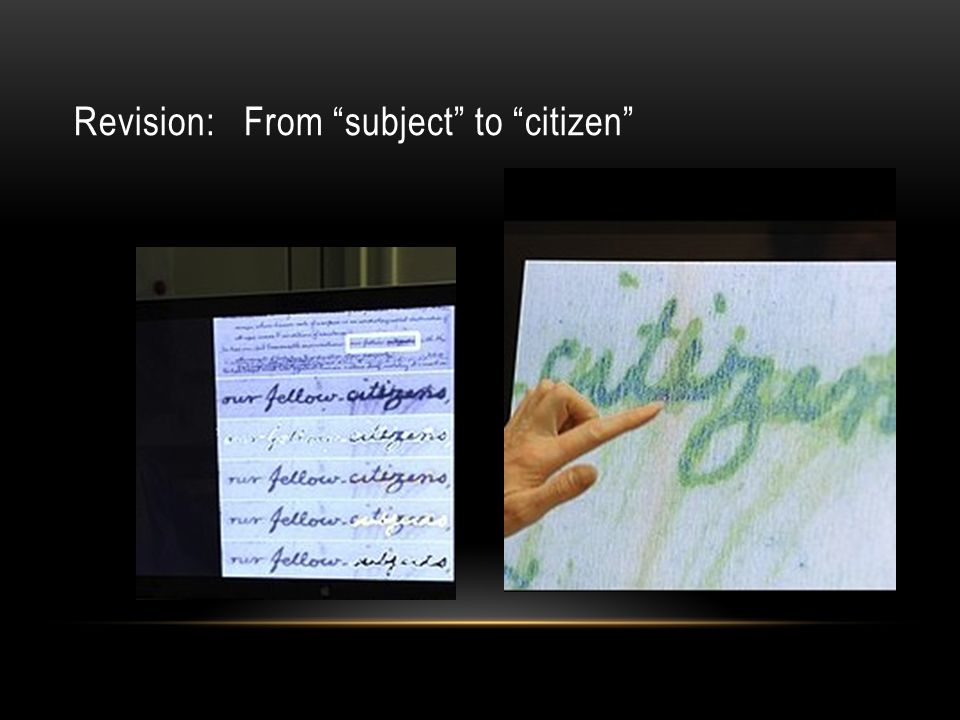 Revision: From subject to citizen