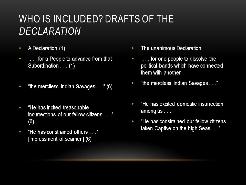 Who is included drafts of the Declaration