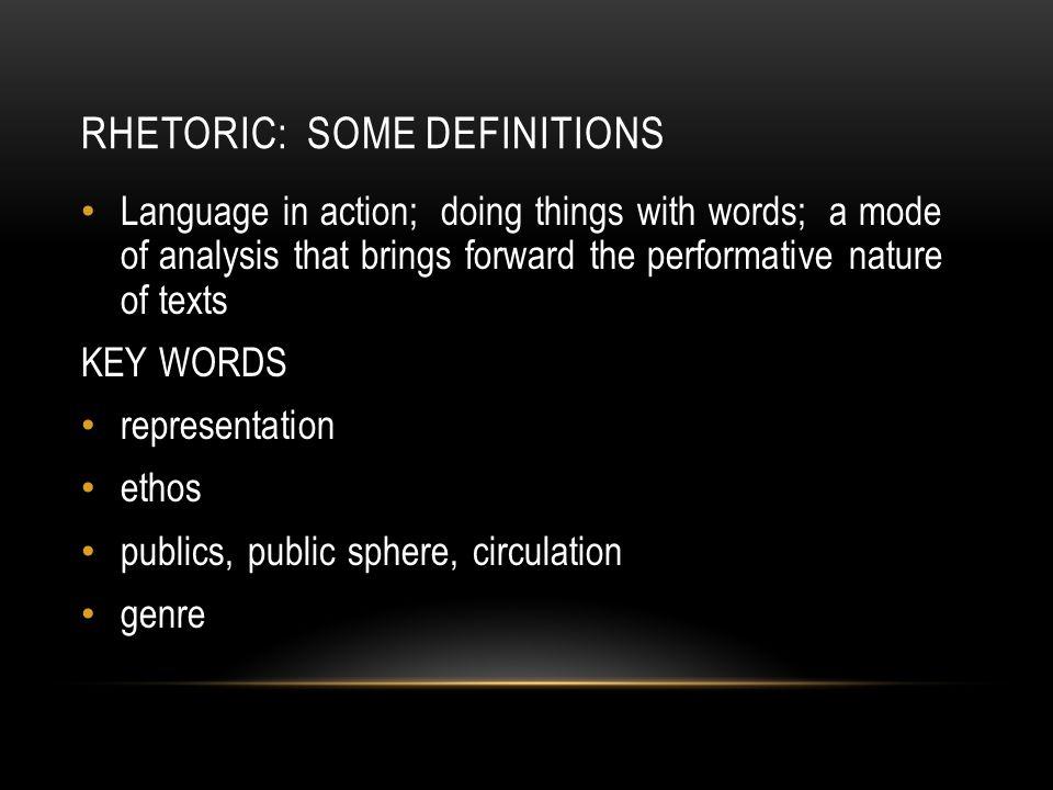 Rhetoric: some definitions