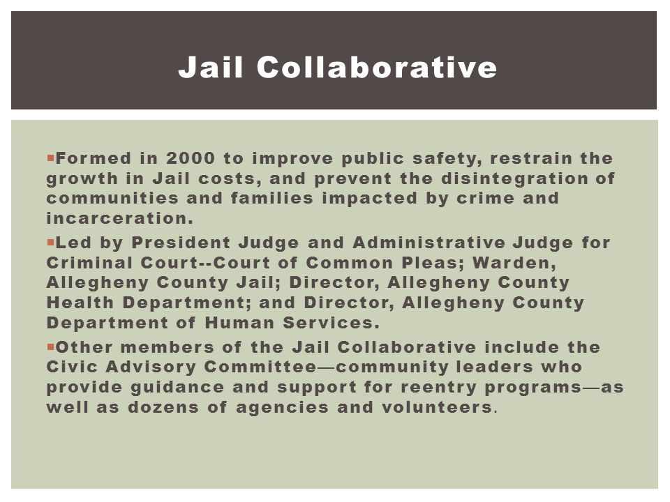 7/16/2012 Jail Collaborative.