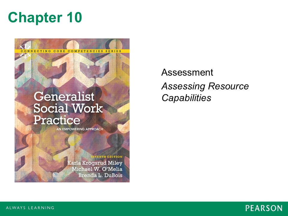 Assessment Assessing Resource Capabilities