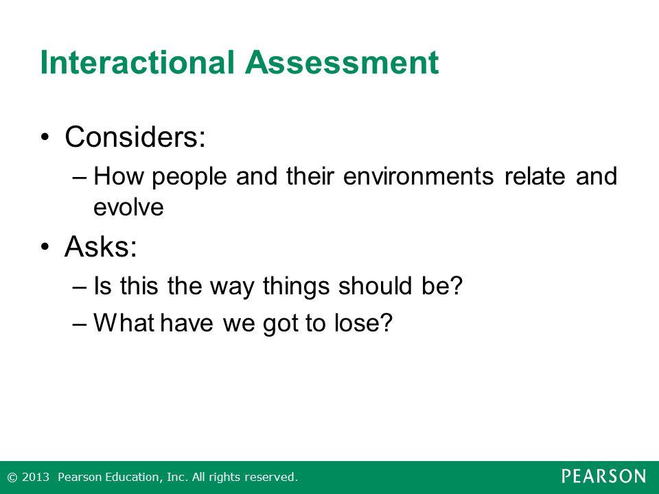 Interactional Assessment