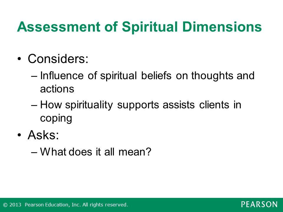 Assessment of Spiritual Dimensions