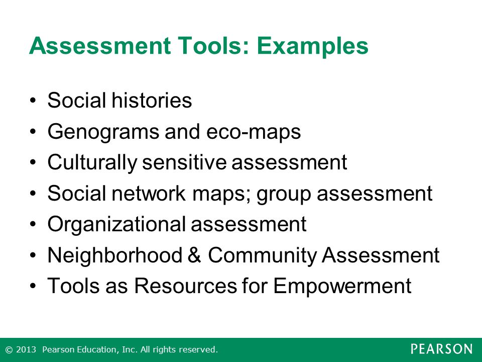 Assessment Tools: Examples