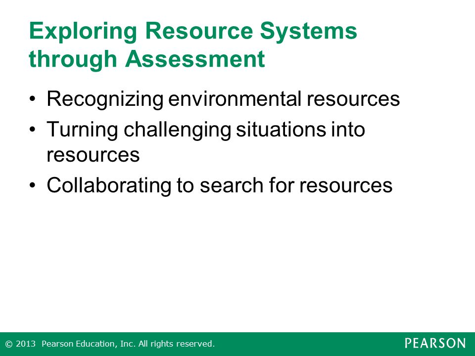 Exploring Resource Systems through Assessment