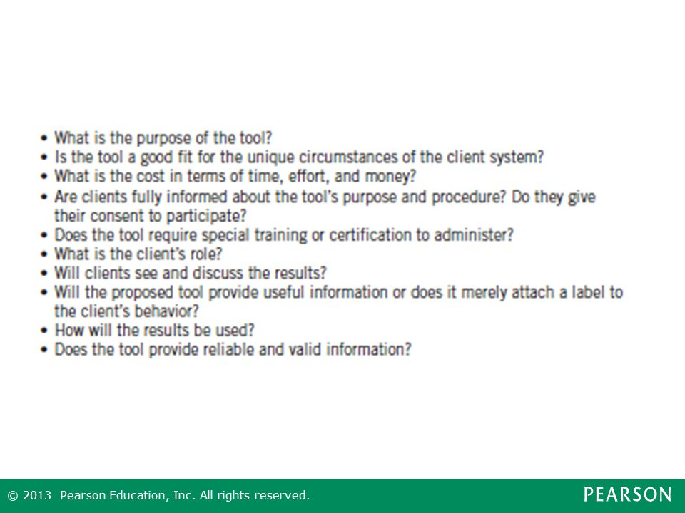Figure 10.6 Considerations in Using Assessment Tools