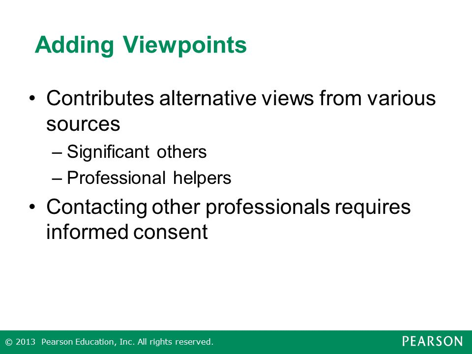 Adding Viewpoints Contributes alternative views from various sources