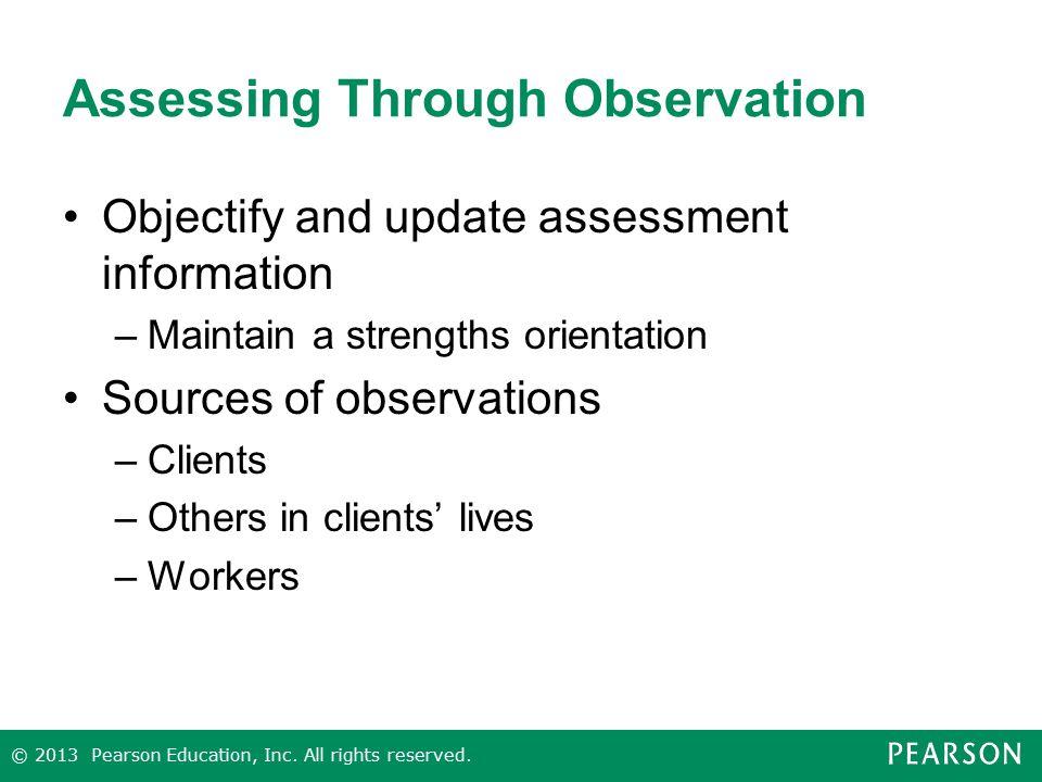 Assessing Through Observation