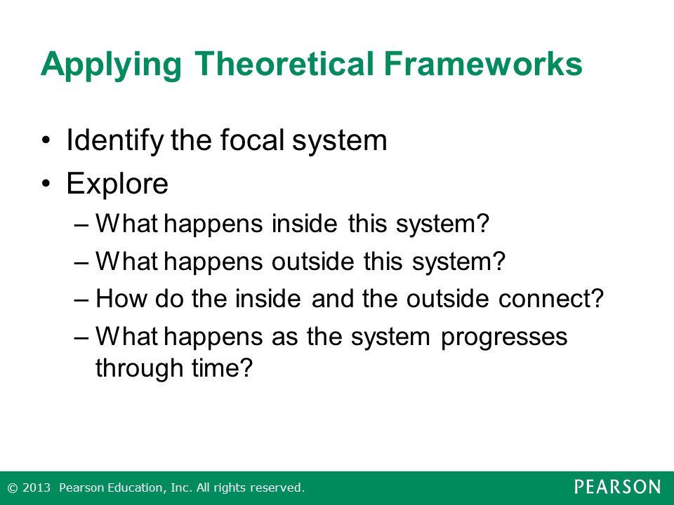 Applying Theoretical Frameworks