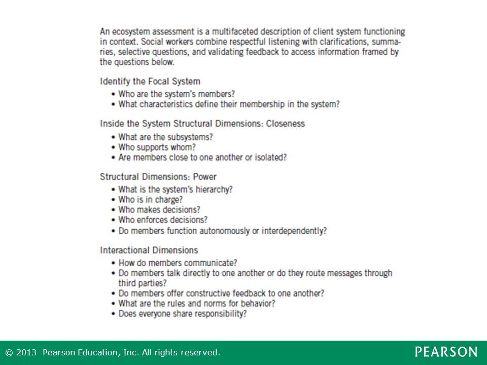 Figure 10.1 Ecosystems Assessment Framework