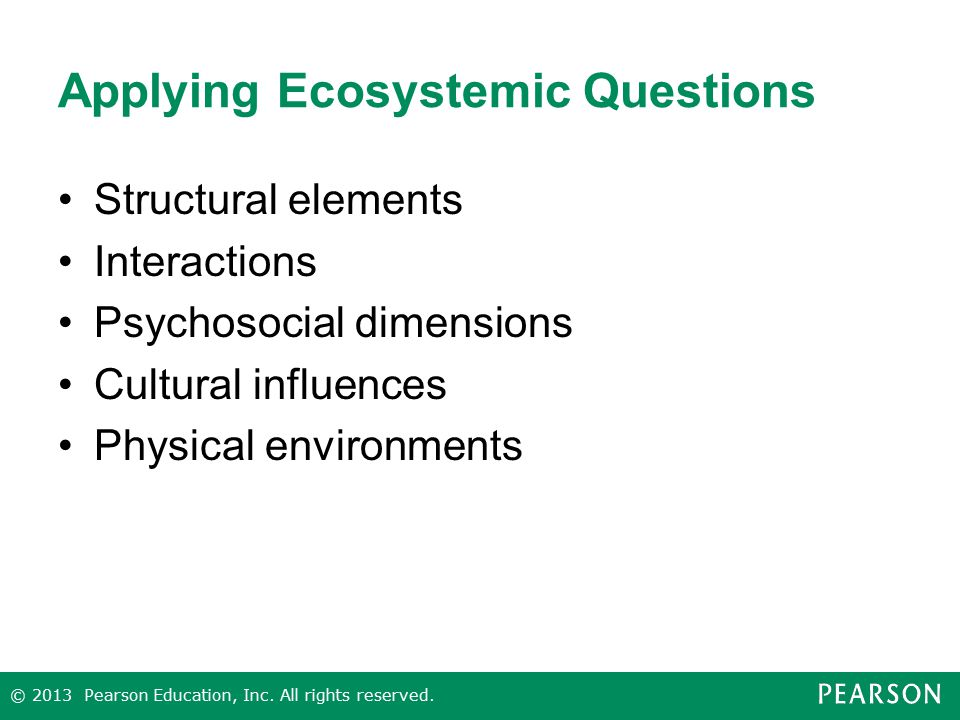 Applying Ecosystemic Questions