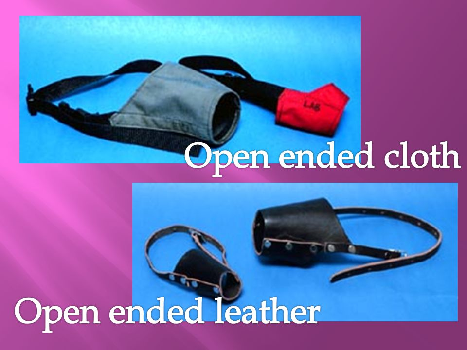 Open ended cloth Open ended leather