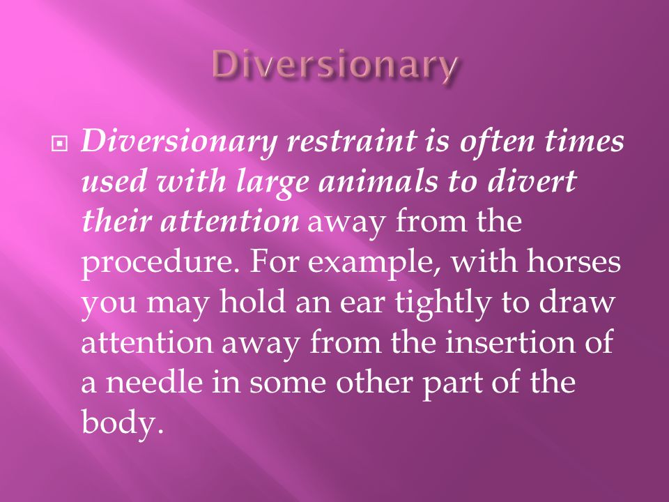 Diversionary