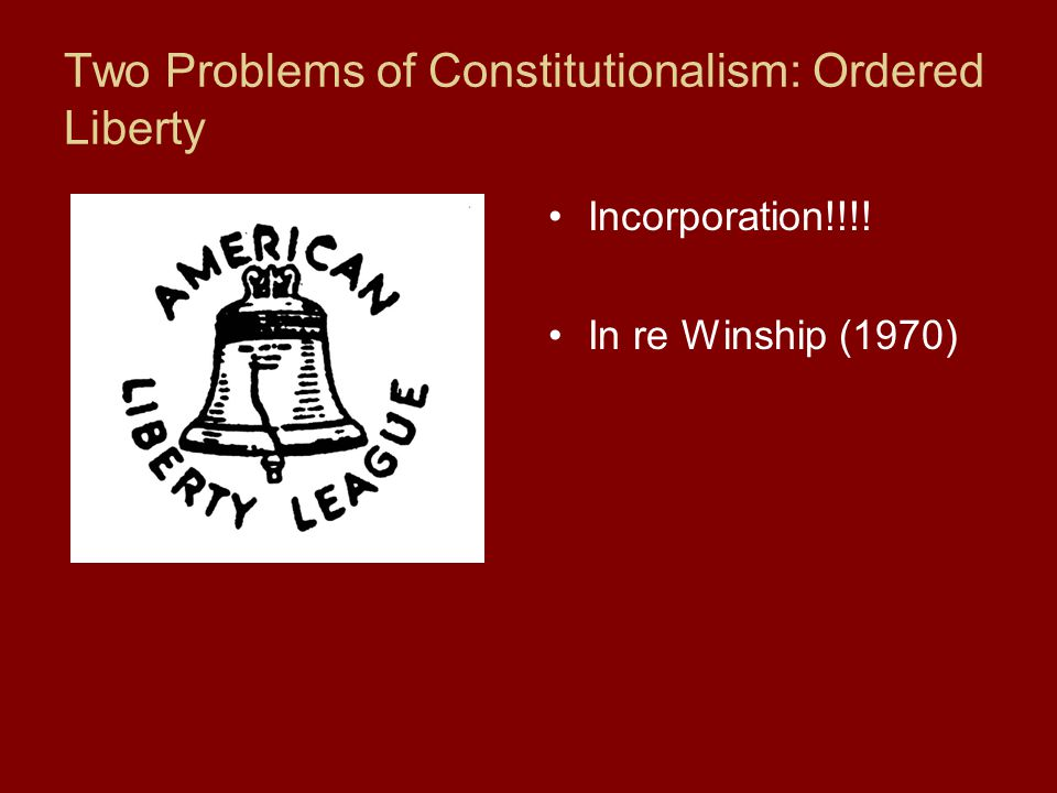 Two Problems of Constitutionalism: Ordered Liberty