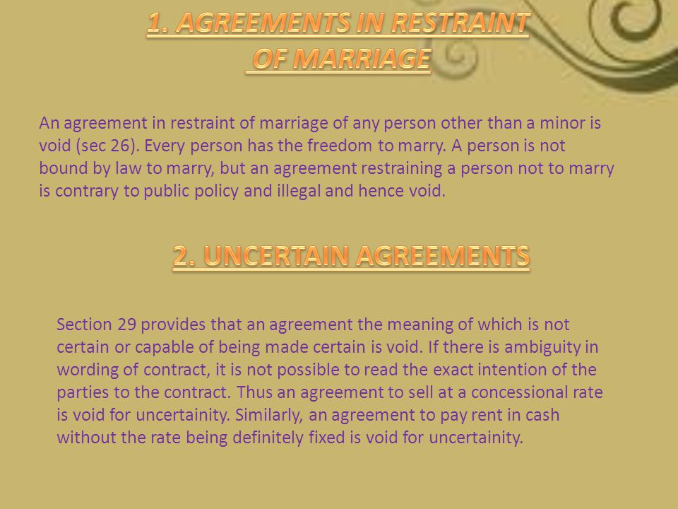 1. AGREEMENTS IN RESTRAINT