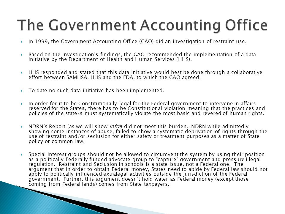 The Government Accounting Office