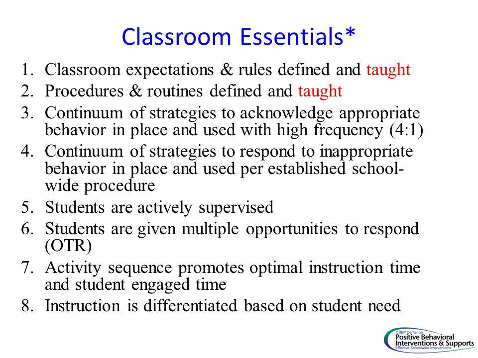 Classroom Essentials*