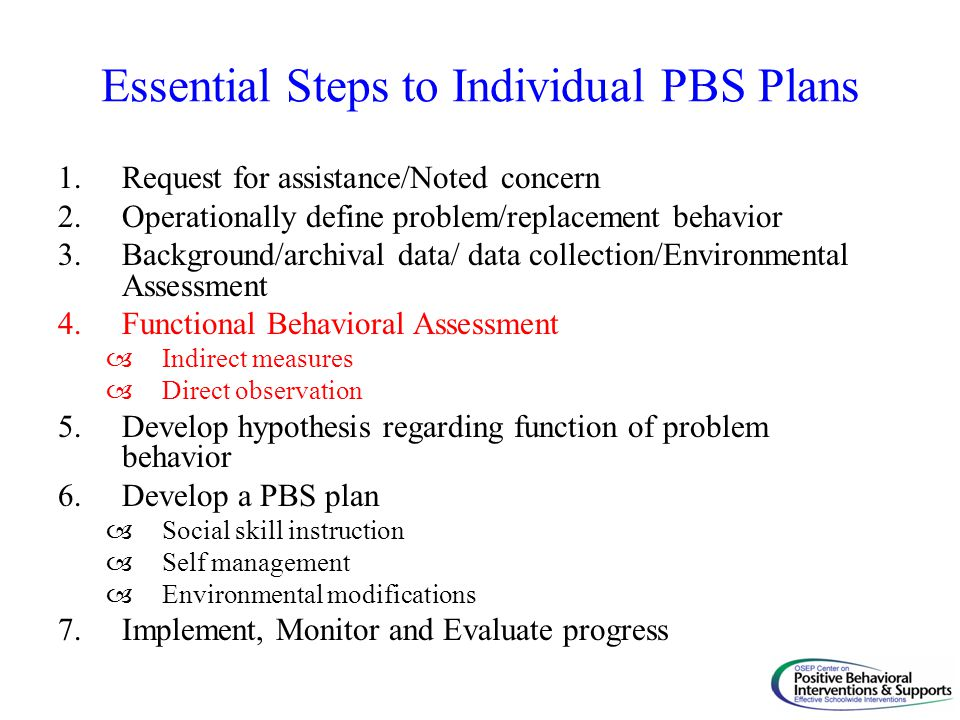 Essential Steps to Individual PBS Plans