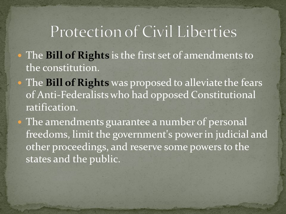 Protection of Civil Liberties