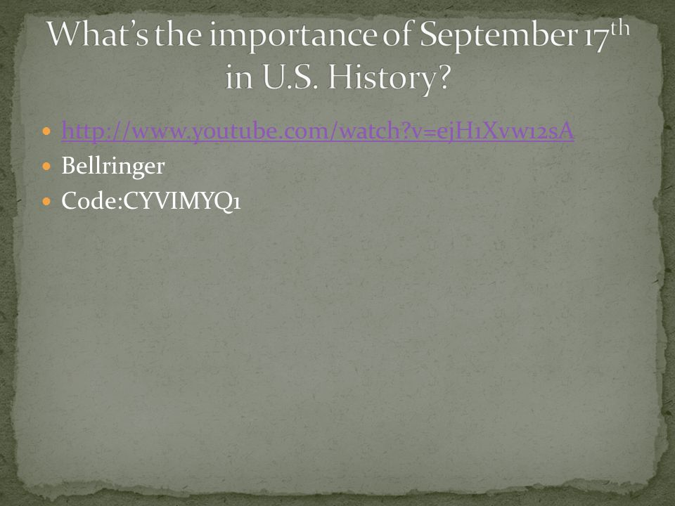 What's the importance of September 17th in U.S. History
