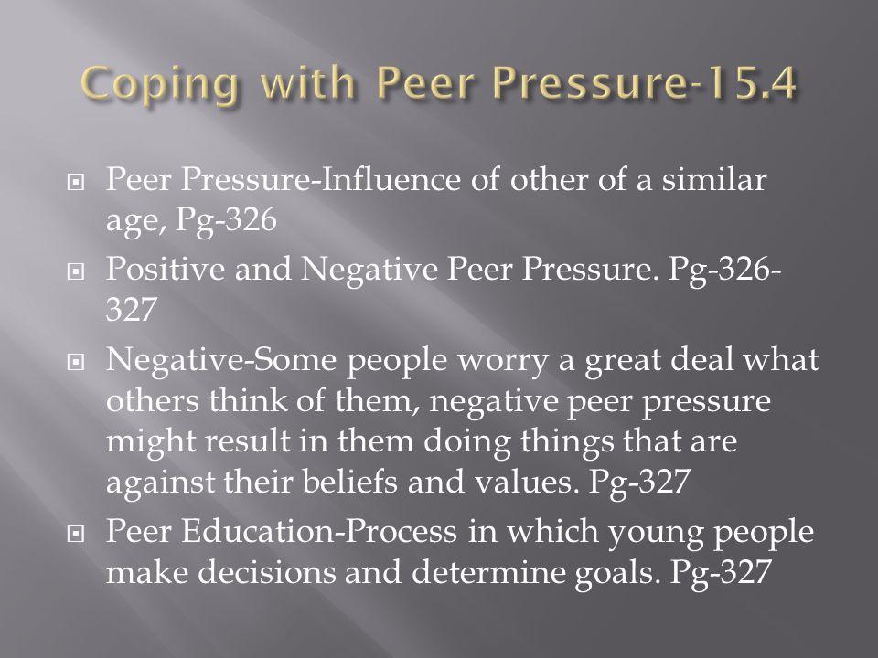 Coping with Peer Pressure-15.4