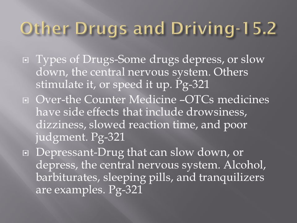 Other Drugs and Driving-15.2