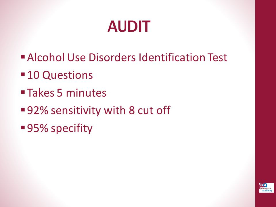 AUDIT Alcohol Use Disorders Identification Test 10 Questions