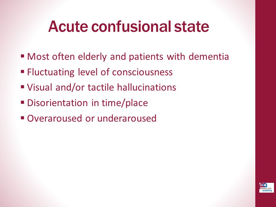 Acute confusional state
